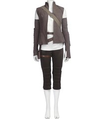 star wars the last jedi rey cosplay costume women halloween outfit