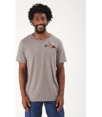 t-shirt zinzane hawai local bolso masculina - masculino