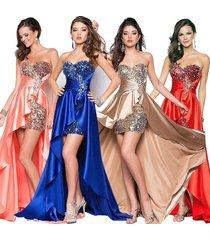 evening dress short royal front long back elegant evening gowns formal dress
