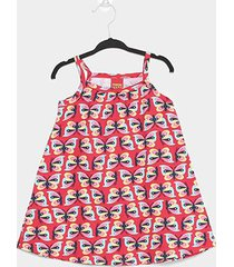 vestido infantil kyly borboletas