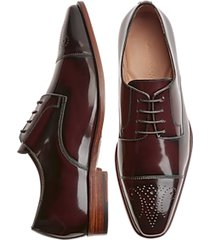giovacchini mike burgundy cap-toe derby dress shoes
