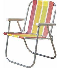 cadeira de praia alta botafogo em alumínio cores diversas - item sortido