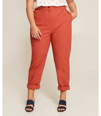 pantalon chino unicolor tiro alto