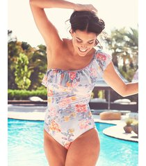 camilla one shoulder frill tummy control one-piece swimsuit