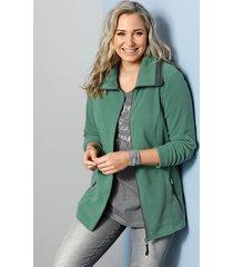 fleece vest miamoda groen