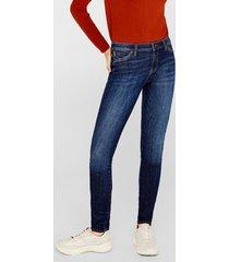 jeans skinny medium rise azul esprit