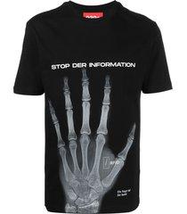 032c hand x-ray print t-shirt - black
