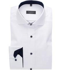 eterna overhemd wit comfort fit contrast knopen