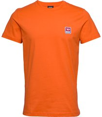 t-diego-div t-shirt t-shirts short-sleeved orange diesel men