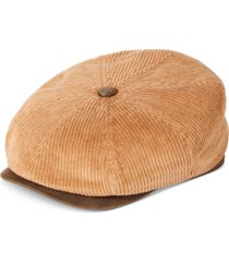 stetson men's corduroy newsboy cap