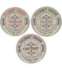 talerz 3 szt. gourmet cheese
