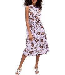 floral midi flare dress