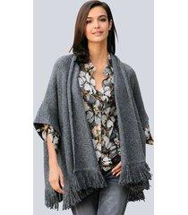 poncho alba moda grijs