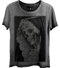 camiseta estonada skull lab caveira old grafite - kanui