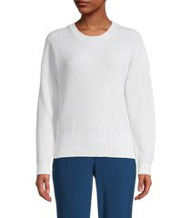 525 america women's roundneck cotton-blend sweater - white - size s