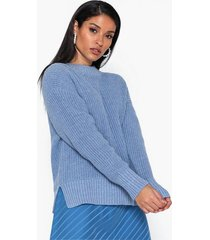 selected femme slfbailey ls knit slit o-neck noos stickade tröjor