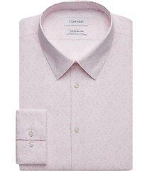 calvin klein infinite pink flecks extreme slim fit dress shirt
