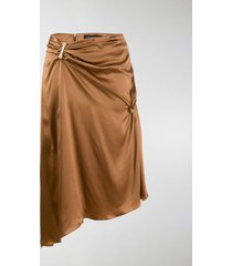 versace embellished draped mid-length skirt