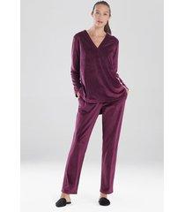 velour long sleeve top, women's, purple, size xl, n natori