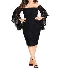 plus size women's city chic mystic lace dress