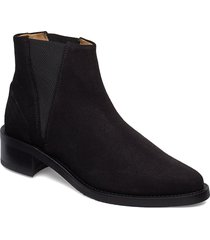 elite chelsea suede shoes boots ankle boots ankle boots flat heel svart royal republiq