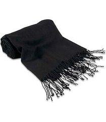 forzieri designer scarves, black pashmina shawl