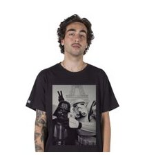 camiseta stoned star wars selfie preta