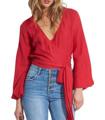 blusa manga larga shine rojo billabong
