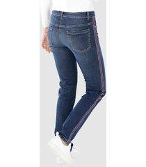 jeans dress in dark blue::röd