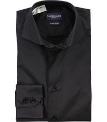 cavallaro overhemd mouwlengte 7 zwart