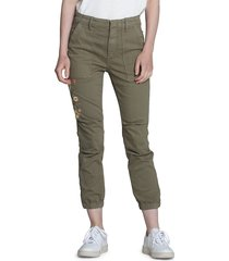 driftwood women's norah cotton-blend pants - olive - size 25 (2)