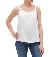 blusa sin mangas bib mujer blanco gap
