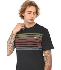 camiseta ...lost lines crosshatch preta/amarela - preto - masculino - dafiti