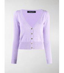 versace fine-knit buttoned cardigan