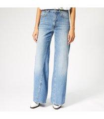 ganni women's camfield jeans - bleached denim - w29/l32 - blue
