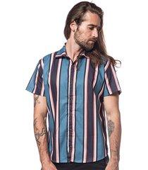camisa hermoso compadre casual azul - kanui