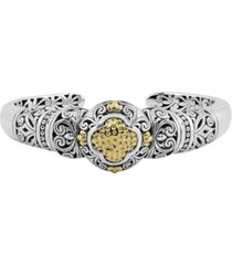 bali heritage classic cuff bracelet in sterling silver and 18k yellow gold accents