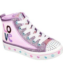 zapatos de niña  twi-lites 2.0 - lilac love morado skechers