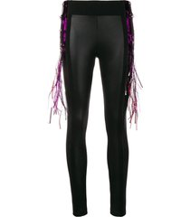 no ka' oi fringe detailing leggings - black
