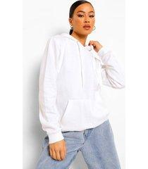basic overhead hoodie, white
