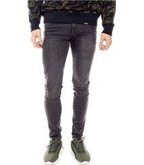 black denim super skinny jeans color blue