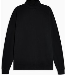 mens black roll neck sweatshirt