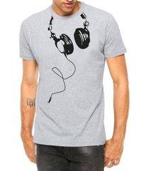 camiseta criativa urbana fones nerd geek engraçadas divertidas manga curta - masculino