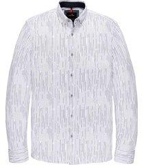 long sleeve shirt print at pique