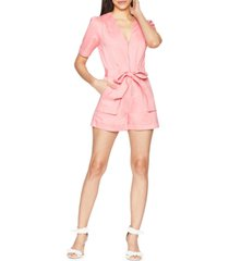 bcbgeneration belted cotton romper