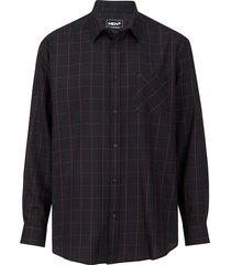overhemd men plus zwart::rood