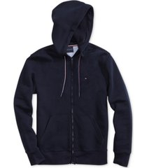 tommy hilfiger adaptive men's plains hoodie with magnetic zipper