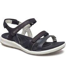 cruise ii shoes summer shoes flat sandals svart ecco