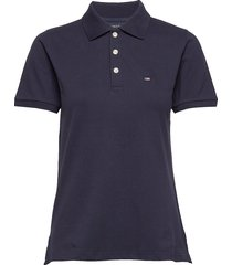 jess pique polo shirt t-shirts & tops polos blauw lexington clothing
