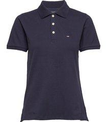 jess pique polo shirt t-shirts & tops polos blauw lexington clothing
